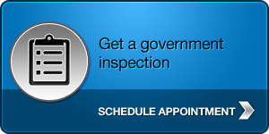 Get a government inspection - Schedule an appointment